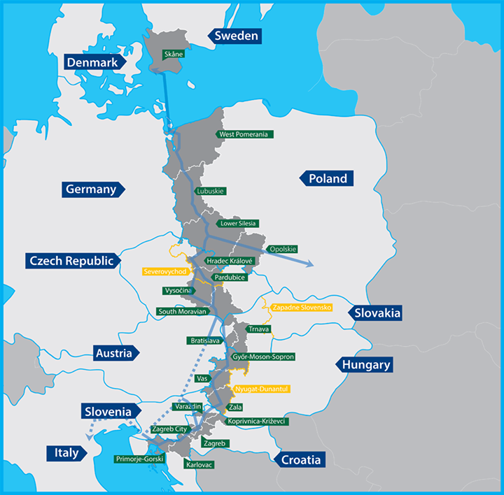 Smart specialisations in the regions within the development belt of the CETC